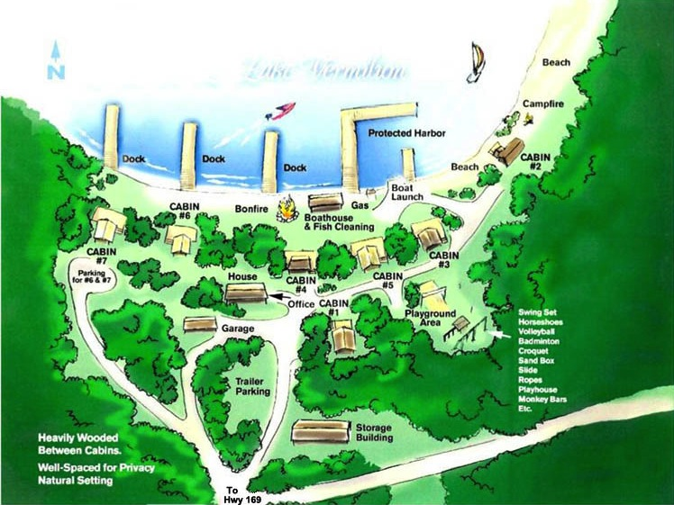 Lake Vermillion Minnesota Map.Lake Vermilion Resort Map Glenmore Resort